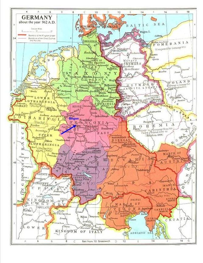 Bingen Germany Map.Bingen Germany Circa 962 Ad Order Of Medieval Women